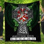1sttheworld Premium Quilt - Kingston Irish Family Crest Quilt - Irish Legend A7