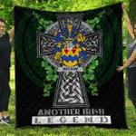 1sttheworld Premium Quilt - Mecham Irish Family Crest Quilt - Irish Legend A7