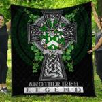 1sttheworld Premium Quilt - Tuly or McAtilla Irish Family Crest Quilt - Irish Legend A7