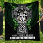 1sttheworld Premium Quilt - Denn Irish Family Crest Quilt - Irish Legend A7