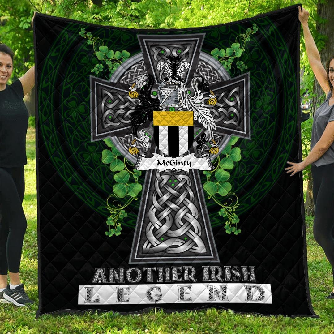 1sttheworld Premium Quilt - McGinty Irish Family Crest Quilt - Irish Legend A7