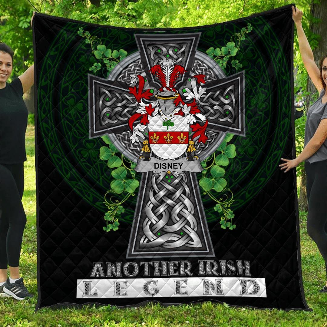 1sttheworld Premium Quilt - Disney Irish Family Crest Quilt - Irish Legend A7