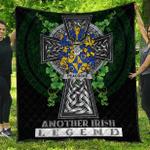 1sttheworld Premium Quilt - Peacocke Irish Family Crest Quilt - Irish Legend A7
