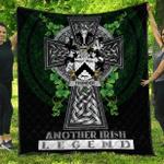 1sttheworld Premium Quilt - Thunder Irish Family Crest Quilt - Irish Legend A7