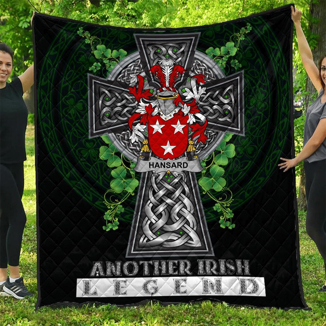 1sttheworld Premium Quilt - Hansard Irish Family Crest Quilt - Irish Legend A7