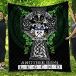 1sttheworld Premium Quilt - McCourt Irish Family Crest Quilt - Irish Legend A7