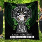 1sttheworld Premium Quilt - McAlindon or McAlindem Irish Family Crest Quilt - Irish Legend A7