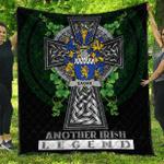 1sttheworld Premium Quilt - Eagar Irish Family Crest Quilt - Irish Legend A7