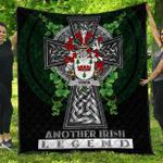 1sttheworld Premium Quilt - Irwin Irish Family Crest Quilt - Irish Legend A7