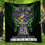 1sttheworld Premium Quilt - Crofton Irish Family Crest Quilt - Irish Legend A7