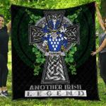1sttheworld Premium Quilt - Topping Irish Family Crest Quilt - Irish Legend A7