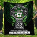 1sttheworld Premium Quilt - Going Irish Family Crest Quilt - Irish Legend A7