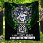 1sttheworld Premium Quilt - Crowley or O'Crouley Irish Family Crest Quilt - Irish Legend A7