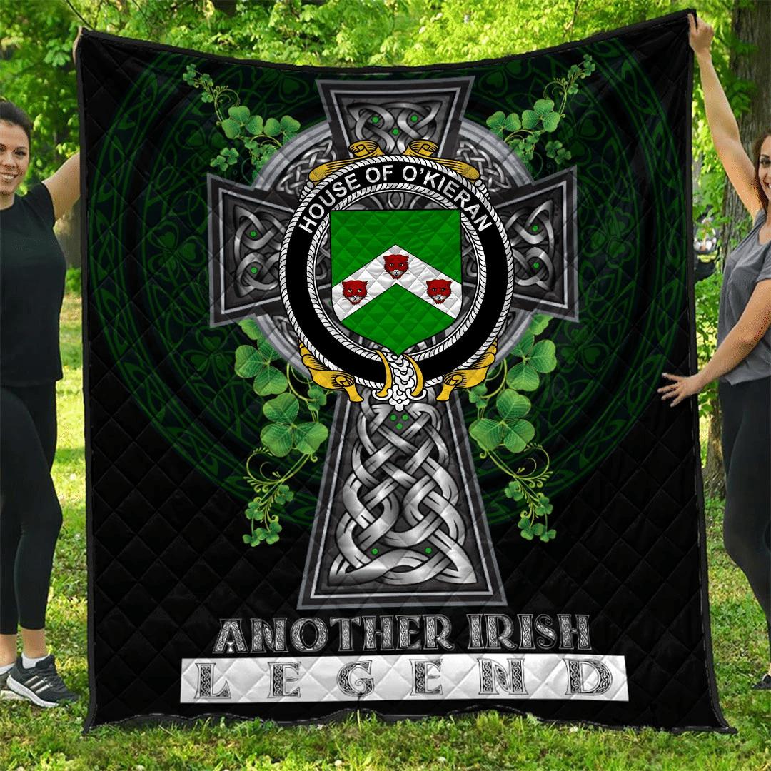 1sttheworld Premium Quilt - House of O'KIERAN Irish Family Crest Quilt - Irish Legend A7