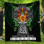 1sttheworld Premium Quilt - Field Irish Family Crest Quilt - Irish Legend A7