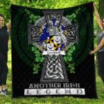 1sttheworld Premium Quilt - Campbell Irish Family Crest Quilt - Irish Legend A7