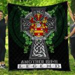 1sttheworld Premium Quilt - Willoughby Irish Family Crest Quilt - Irish Legend A7
