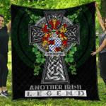 1sttheworld Premium Quilt - Chichester Irish Family Crest Quilt - Irish Legend A7