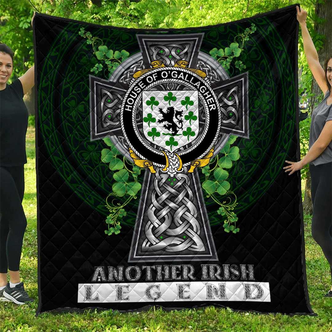 1sttheworld Premium Quilt - House of O'GALLAGHER Irish Family Crest Quilt - Irish Legend A7