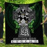 1sttheworld Premium Quilt - Looney or O'Lunney Irish Family Crest Quilt - Irish Legend A7