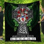1sttheworld Premium Quilt - Haugher or O'Haffey Irish Family Crest Quilt - Irish Legend A7