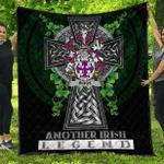 1sttheworld Premium Quilt - Riggs Irish Family Crest Quilt - Irish Legend A7