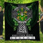 1sttheworld Premium Quilt - Keefe or O'Keefe Irish Family Crest Quilt - Irish Legend A7