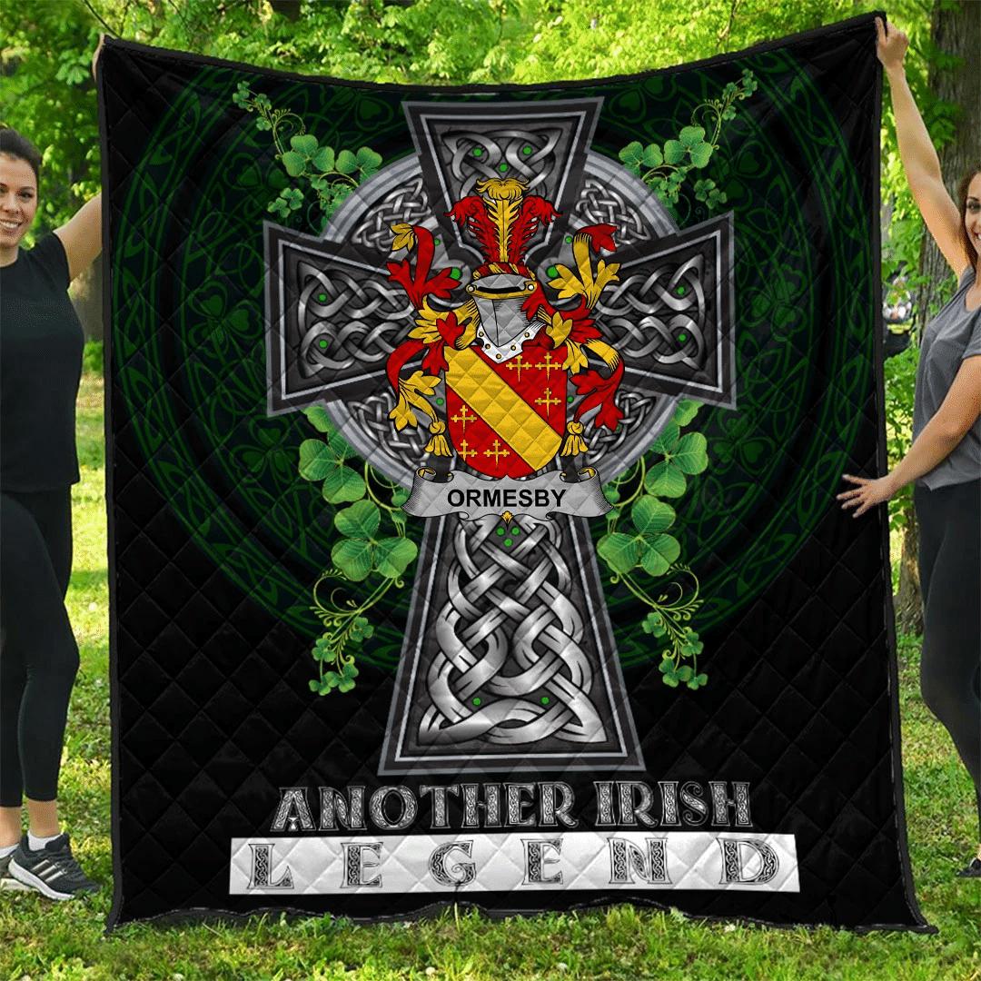 1sttheworld Premium Quilt - Ormesby Irish Family Crest Quilt - Irish Legend A7