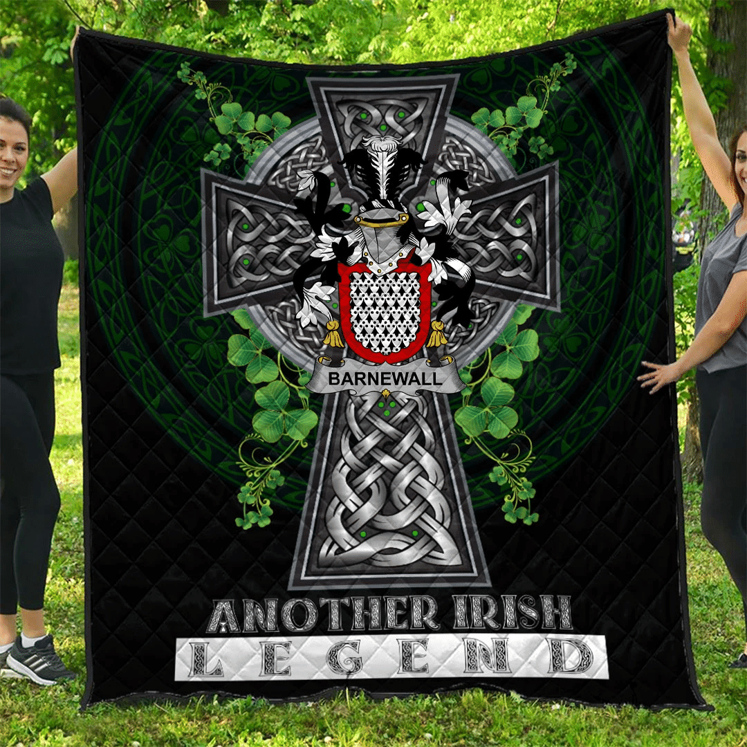 1sttheworld Premium Quilt - Barnewall Irish Family Crest Quilt - Irish Legend A7