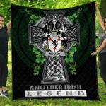 1sttheworld Premium Quilt - Molloy or O'Mulloy Irish Family Crest Quilt - Irish Legend A7