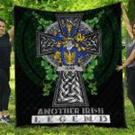 1sttheworld Premium Quilt - Dunn or O'Dunn Irish Family Crest Quilt - Irish Legend A7