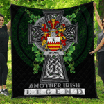 1sttheworld Premium Quilt - Hare or O'Hare Irish Family Crest Quilt - Irish Legend A7