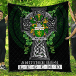1sttheworld Premium Quilt - Mullady or O'Mullady Irish Family Crest Quilt - Irish Legend A7