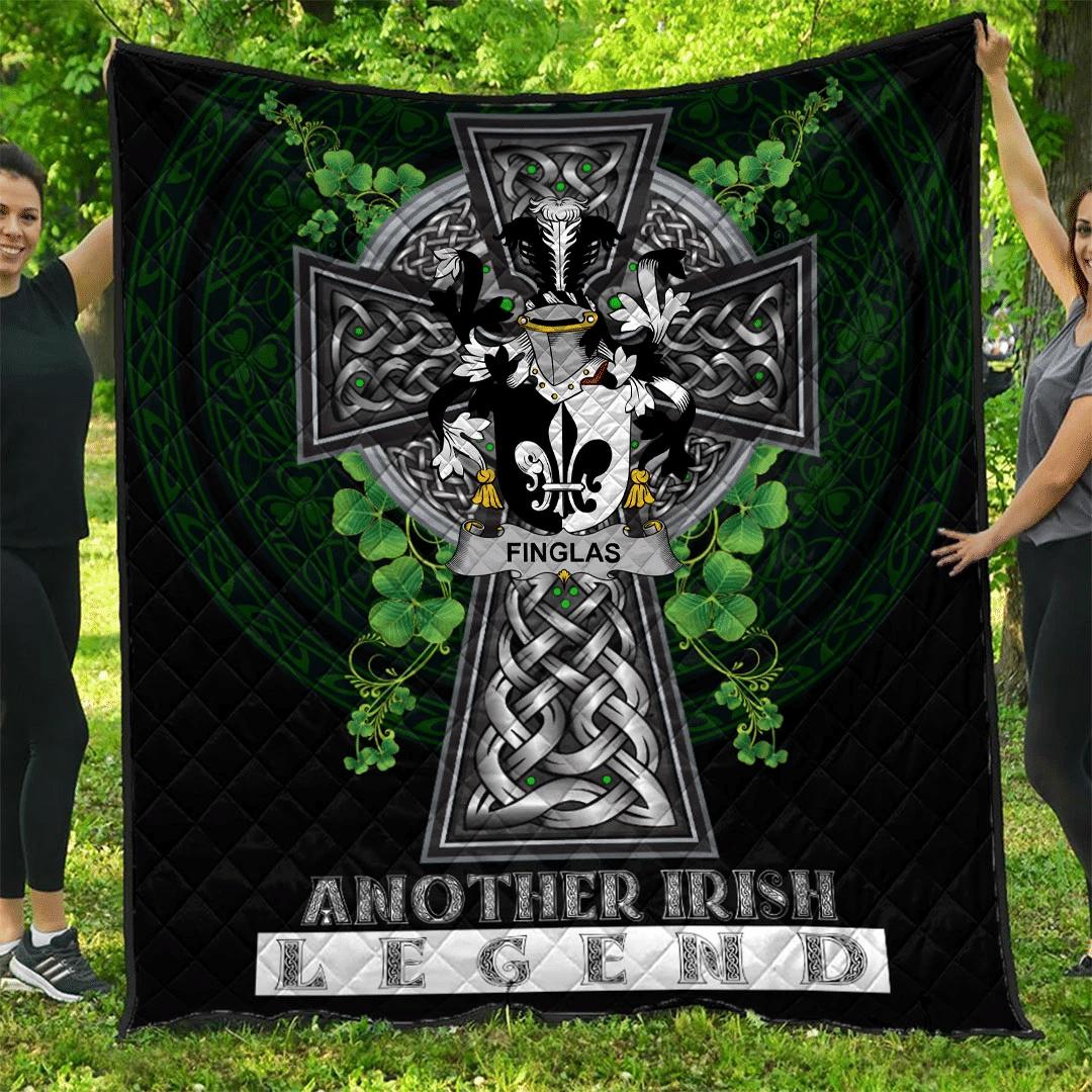 1sttheworld Premium Quilt - Finglas Irish Family Crest Quilt - Irish Legend A7