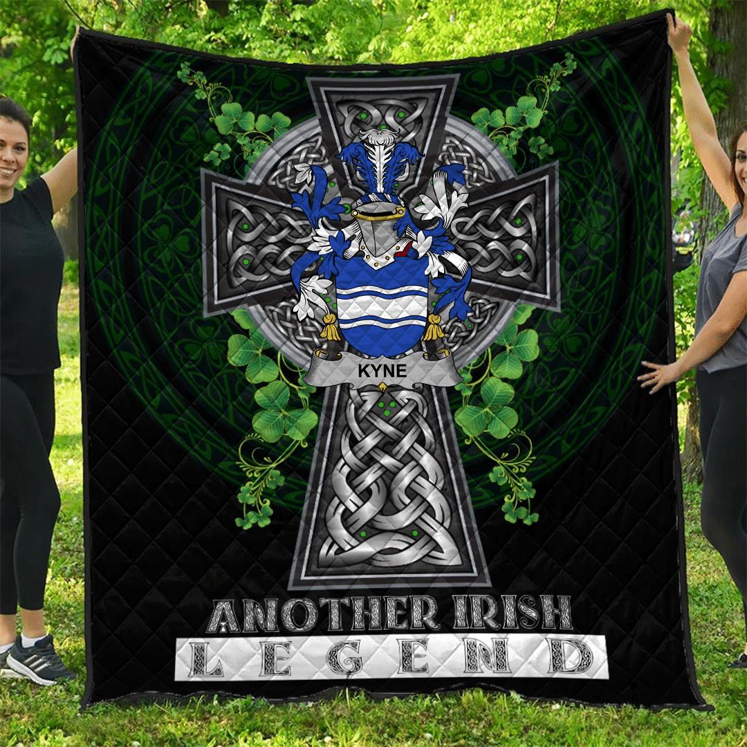1sttheworld Premium Quilt - Kyne or O'Kyne Irish Family Crest Quilt - Irish Legend A7