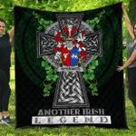 1sttheworld Premium Quilt - Wybrants Irish Family Crest Quilt - Irish Legend A7