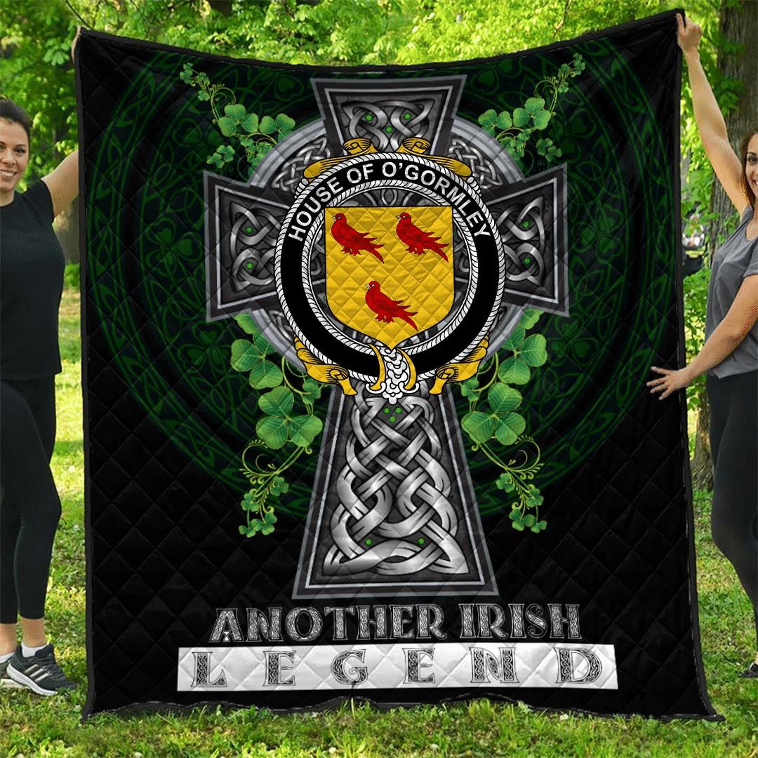1sttheworld Premium Quilt - House of O'GORMLEY Irish Family Crest Quilt - Irish Legend A7