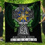 1sttheworld Premium Quilt - Day Irish Family Crest Quilt - Irish Legend A7