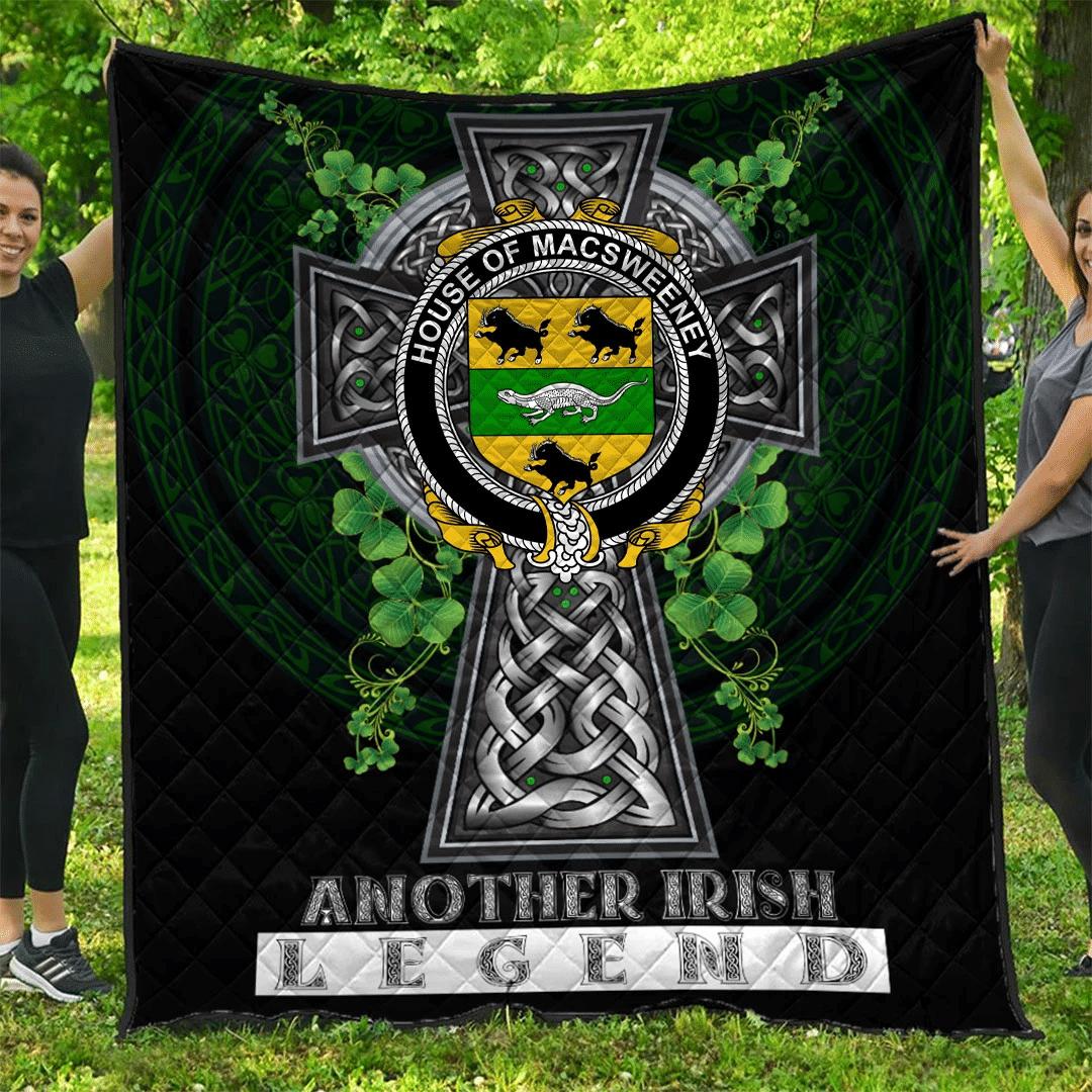 1sttheworld Premium Quilt - House of MACSWEENEY Irish Family Crest Quilt - Irish Legend A7