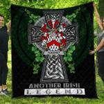 1sttheworld Premium Quilt - Touchet Irish Family Crest Quilt - Irish Legend A7