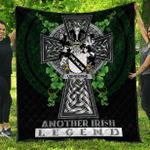 1sttheworld Premium Quilt - Ushburne Irish Family Crest Quilt - Irish Legend A7