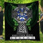 1sttheworld Premium Quilt - Sheilds Irish Family Crest Quilt - Irish Legend A7
