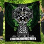 1sttheworld Premium Quilt - Edney Irish Family Crest Quilt - Irish Legend A7