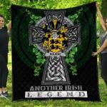 1sttheworld Premium Quilt - Rourke or O'Rourke Irish Family Crest Quilt - Irish Legend A7