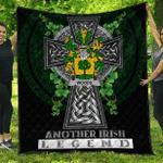 1sttheworld Premium Quilt - Woods Irish Family Crest Quilt - Irish Legend A7
