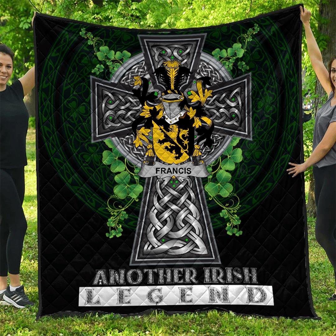 1sttheworld Premium Quilt - Francis Irish Family Crest Quilt - Irish Legend A7