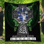 1sttheworld Premium Quilt - Sheehy or McSheehy Irish Family Crest Quilt - Irish Legend A7