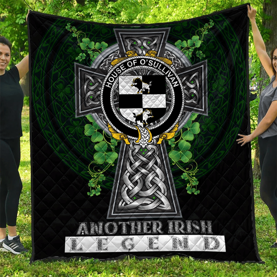 1sttheworld Premium Quilt - House of O'SULLIVAN (Beare) Irish Family Crest Quilt - Irish Legend A7