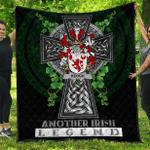 1sttheworld Premium Quilt - Keogh or McKeogh Irish Family Crest Quilt - Irish Legend A7