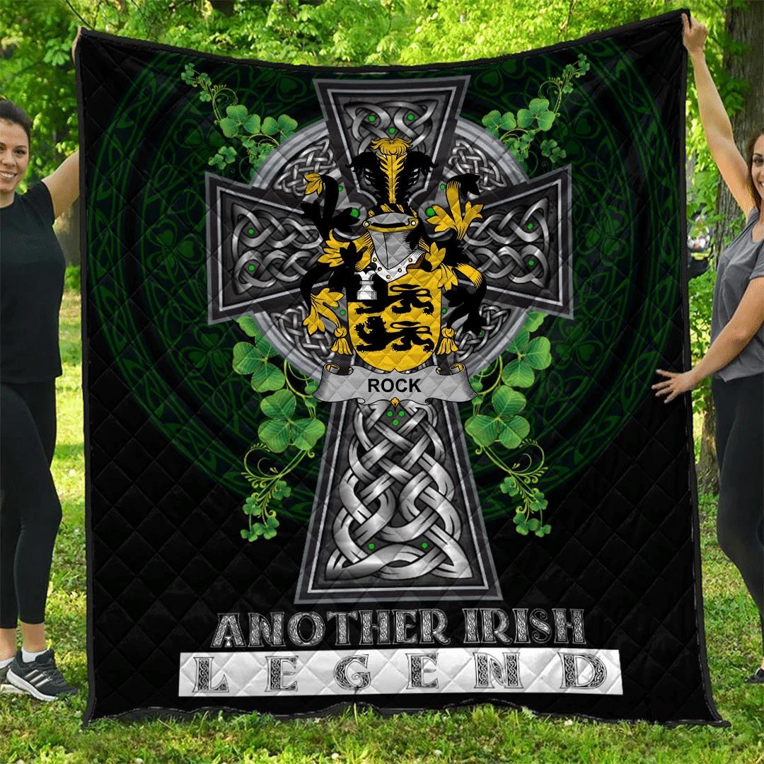 1sttheworld Premium Quilt - Rock Irish Family Crest Quilt - Irish Legend A7
